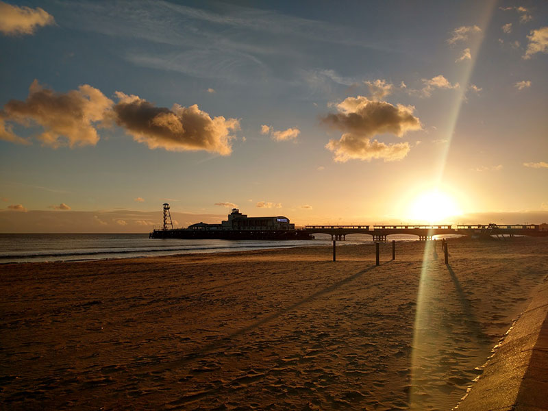 bournemouth-pier-beach-sunset