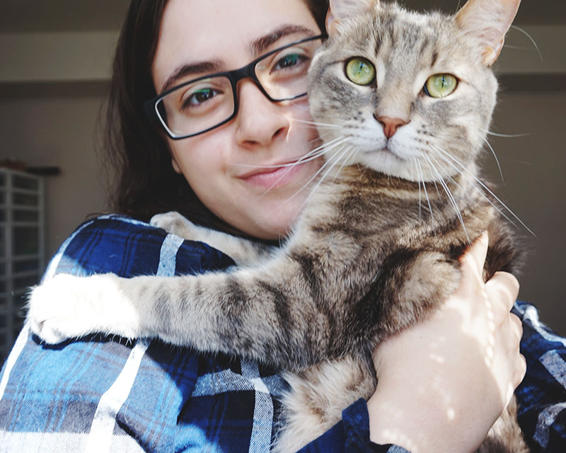 elise-stalking-cat-for-pictures